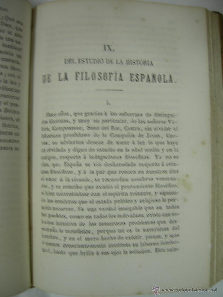 Libros antiguos: ESTUDIOS CRITICOS DE FILOSOFIA, POLITICA Y LITERATURA POR F. DE PAULA CANALEJAS, BAILLY 1872 - Foto 12 - 43999676