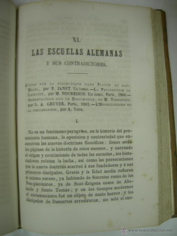 Libros antiguos: ESTUDIOS CRITICOS DE FILOSOFIA, POLITICA Y LITERATURA POR F. DE PAULA CANALEJAS, BAILLY 1872 - Foto 13 - 43999676