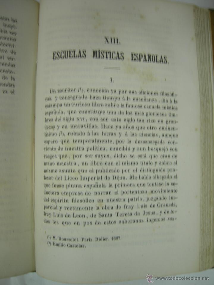 Libros antiguos: ESTUDIOS CRITICOS DE FILOSOFIA, POLITICA Y LITERATURA POR F. DE PAULA CANALEJAS, BAILLY 1872 - Foto 15 - 43999676