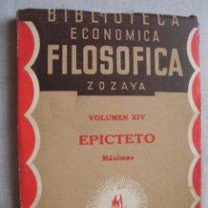 Livros antigos: MÁXIMAS DE EPICTETO. 1928. Lote 56639680