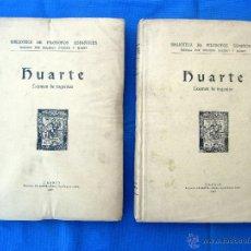 Libros antiguos: BIBLIOTECA DE FILÓSOFOS ESPAÑOLES. HUARTE. EXAMEN DE INGENIOS. IMPRENTA LA RAFA. MADRID 1930. II VOL. Lote 45203531