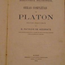 Libros antiguos: OBRAS COMPLETAS DE PLATON - 1872. Lote 45223648