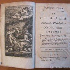 Libros antiguos: NATURALIS PHILOSOPHIE.1711. JOSEPH TRAPP. MUY BIEN ILUSTRADO.. Lote 45697541