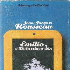 Libros antiguos: EMILIO,O DE LA EDUCACIÓN DE: JEAN -JACQUES ROUSSEAU. Lote 46040741