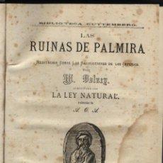 Libros antiguos: VOLNEY. M, LAS RUINAS DE PALMIRA , Y LA LEY NATURAL. . Lote 46077727