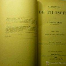 Libros antiguos: LIBRO ELEMENTOS DE FILOSOFIA.-P.FCO. GINEBRA DE LA CIA. DE JESUS- TOMO 3 ETICA Y DERECHO NATURAL. Lote 46179933