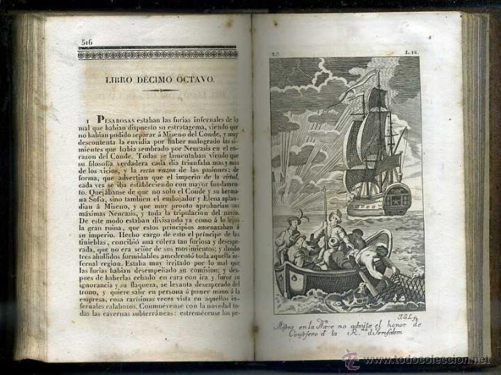 Libros antiguos: ALMEIDA : EL HOMBRE FELIZ O ARTE DE VIVIR CONTENTO (1837) 711 PÁGINAS - 25 GRABADOS - Foto 4 - 47327620