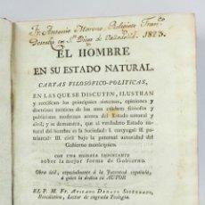 Libros antiguos: EL HOMBRE EN SU ESTADO NATURAL, CARTAS FILOSOFICO-POLÍTICAS. VALLADOLID 1919. 16X21CM.. Lote 47431751
