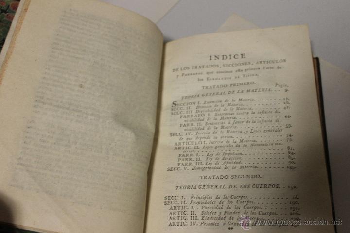 Libros antiguos: ELEMENTOS DE FILOSOFIA,COMPENDIO DE FISICA ESPECULATIVA Y EXPERIMENTAL 1796 - Foto 2 - 47825572