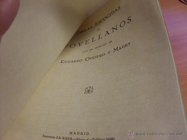 Libros antiguos: JOVELLANOS (OBRAS ESCOGIDAS) BIBLIOTECA FILOSOFOS ESPAÑOLES 1930 INTONSO (LB24) - Foto 3 - 48600631