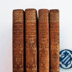ESTUDIOS FILOSÓFICOS SOBRE EL CRISTIANISMO. AUGUSTO NICOLÁS. 4 TOMOS. BARCELONA, 1851