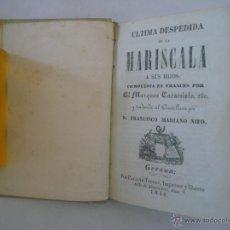 Libros antiguos: MARQUÉS CARACCIOLO. ÚLTIMA DESPEDIDA DE LA MARISCALA A SUS HIJOS. 1848. PERGAMINO. Lote 50078237