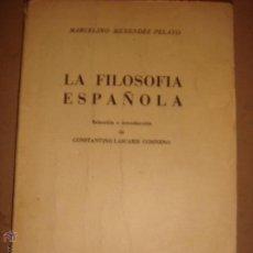 Libro La filosofia española