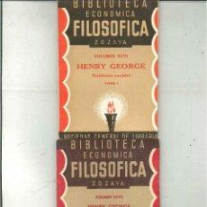 Libros antiguos: PROBLEMAS SOCIALES. HENRY GEORGE. Lote 50309331