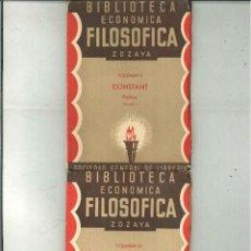Libros antiguos: PRINCIPIOS DE POLÍTICA. BENJAMÍN CONSTANT. Lote 50309776