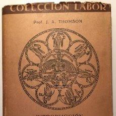 Libros antiguos: INTRODUCCIÓN A LA CIENCIA. Lote 50390805