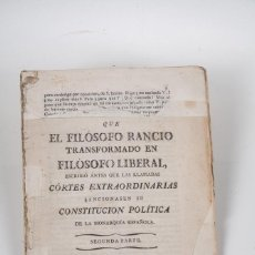 FILOSOFO RANCIO - CONSTITUCION FILOSOFICA (FRANCISCO ALVARADO) SEVILLA 1816