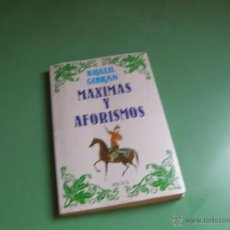 Libros antiguos: MÁXIMAS Y AFORISMOS POR KHALIL GIBRAN. Lote 50609962