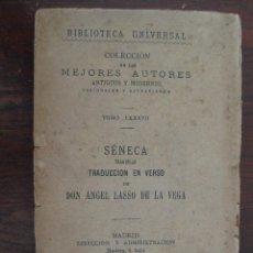 Libros antiguos: BIBLIOTECA UNIVERSAL, SENECA, TRAGEDIAS TOMO LXXXVII. Lote 50944577