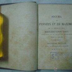 Libros antiguos: MADELEINE-SOPHIE BARAT. RECUEIL DE PENSÉES ET DE MAXIMES. 1865. Lote 51634734