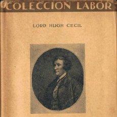 Libros antiguos: CONSERVATISMO - LORD HUGH CECIL. Lote 52614560
