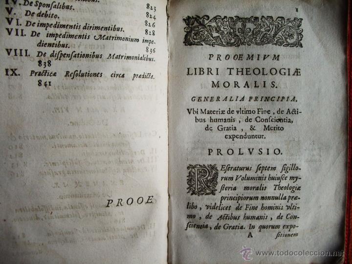 Libros antiguos: 1646-THEOLOGÍAE MORALIS. TEOLOGÍA. ANTONIO DE ESCOBAR Y MENDOZA. VALLADOLID. ORIGINAL - Foto 3 - 53323949