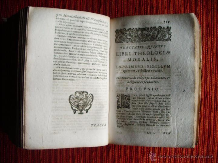 Libros antiguos: 1646-THEOLOGÍAE MORALIS. TEOLOGÍA. ANTONIO DE ESCOBAR Y MENDOZA. VALLADOLID. ORIGINAL - Foto 5 - 53323949