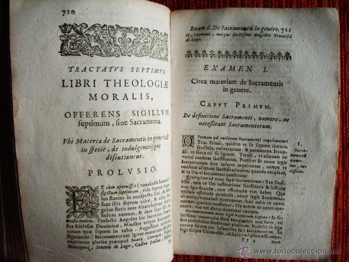 Libros antiguos: 1646-THEOLOGÍAE MORALIS. TEOLOGÍA. ANTONIO DE ESCOBAR Y MENDOZA. VALLADOLID. ORIGINAL - Foto 6 - 53323949