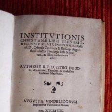 Libros antiguos: 1548-INSTITUCIONES CRISTIANAS.PEDRO DE SOTO.ALCALA.TRENTO.CONFESOR CARLOS V.POST-INCUNABLE ORIGINAL. Lote 53386300