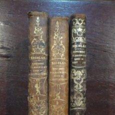 Libros antiguos: ESTUDIO FILOSOFICO SOBRE EL CRISTIANISMO, AUGUSTO NICOLÁS 1854 TRES TOMOS OBRA COMPLETA. Lote 53732771