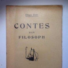Libros antiguos: CONTES D'UN FILOSOPH. 1908. DIEGO RUIZ. INTONSO. Lote 53831584