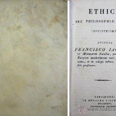 Libros antiguos: JACQUIER, FRANÇOIS. ETHICAE SEU PHILOSOPHICAE MORALIS INSTITUTIONES. 1824.. Lote 54025347