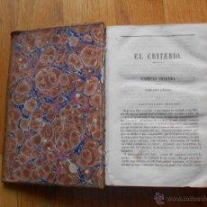 Libros antiguos: EL CRITERIO, BALMES, SIGLO XIX, LIBRERIA DEL DIARIO DE BARCELONA. Lote 54523805