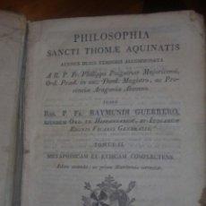Libros antiguos: PHILOSOPHIA SANCTI THOME AQUINATIS. Lote 54579076