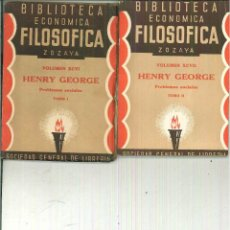 Libros antiguos: PROBLEMAS SOCIALES. HENRY GEORGE. Lote 54765657