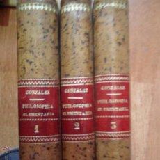 Libros antiguos: PHILOSOPHIA ELEMENTARIA, FR. ZEPHYRINI GONZÁLEZ, SEPTIMA EDITIO, MDCCCXCIV, 1894, 3 TOMOS. Lote 54799628