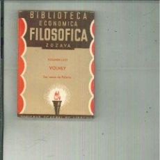 Libros antiguos: LAS RUINAS DE PALMIRA. VOLNEY. Lote 54838411
