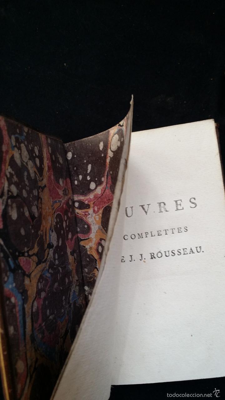Libros antiguos: J. J. ROUSSEAU: PIECES DIVERSES / 2 TOMOS / PARIS, 1793 - Foto 4 - 55230037
