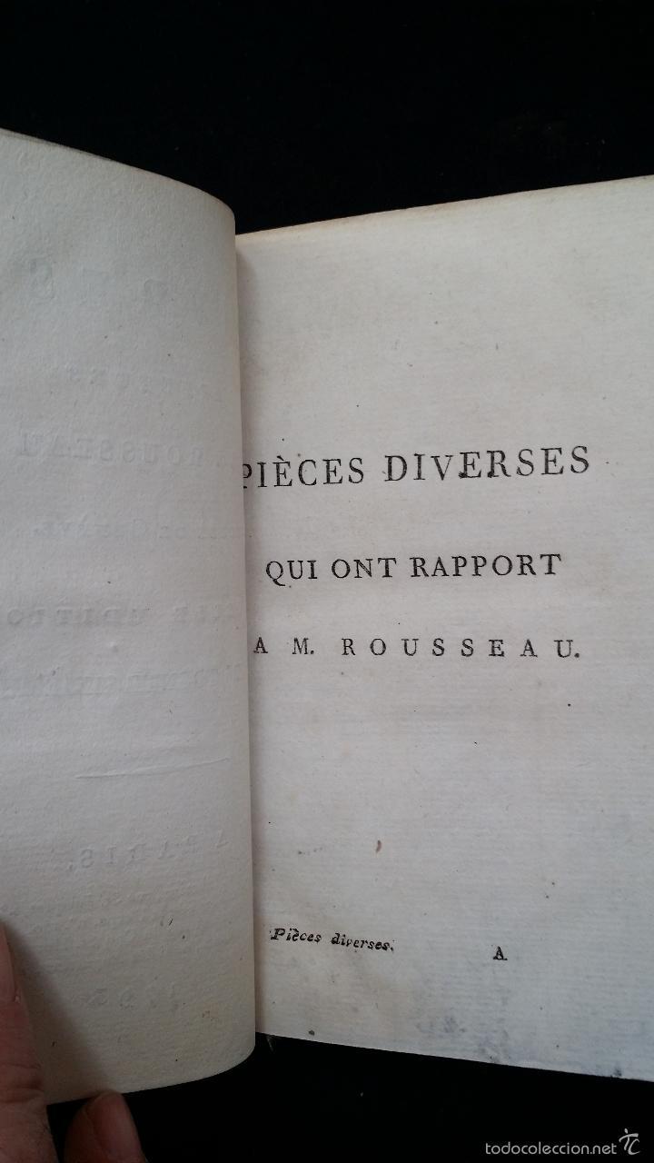 Libros antiguos: J. J. ROUSSEAU: PIECES DIVERSES / 2 TOMOS / PARIS, 1793 - Foto 6 - 55230037
