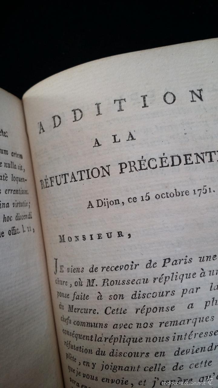 Libros antiguos: J. J. ROUSSEAU: PIECES DIVERSES / 2 TOMOS / PARIS, 1793 - Foto 7 - 55230037