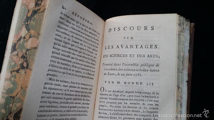 Libros antiguos: J. J. ROUSSEAU: PIECES DIVERSES / 2 TOMOS / PARIS, 1793 - Foto 10 - 55230037