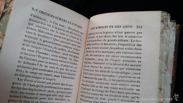 Libros antiguos: J. J. ROUSSEAU: PIECES DIVERSES / 2 TOMOS / PARIS, 1793 - Foto 11 - 55230037