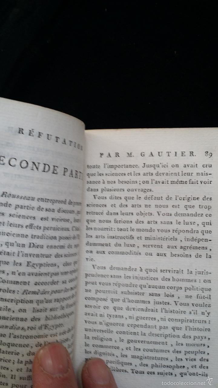 Libros antiguos: J. J. ROUSSEAU: PIECES DIVERSES / 2 TOMOS / PARIS, 1793 - Foto 13 - 55230037