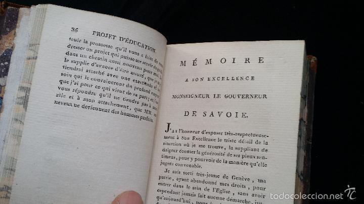Libros antiguos: J. J. ROUSSEAU: PIECES DIVERSES / 2 TOMOS / PARIS, 1793 - Foto 15 - 55230037