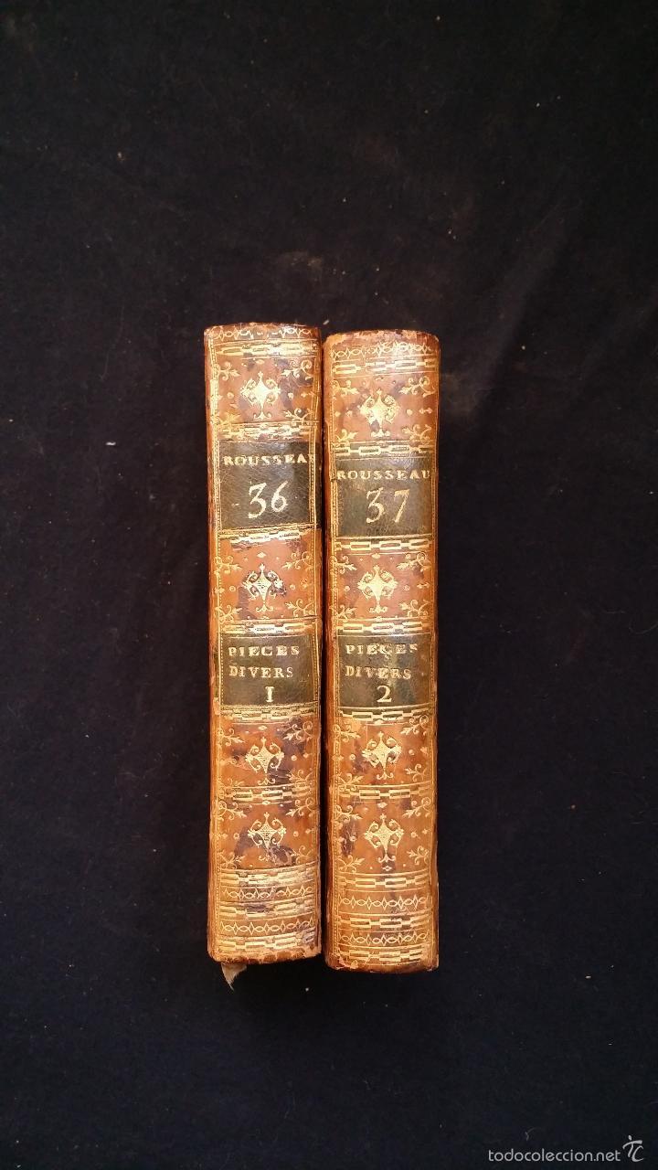 Libros antiguos: J. J. ROUSSEAU: PIECES DIVERSES / 2 TOMOS / PARIS, 1793 - Foto 17 - 55230037