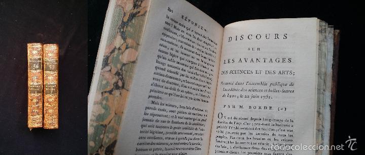 Libros antiguos: J. J. ROUSSEAU: PIECES DIVERSES / 2 TOMOS / PARIS, 1793 - Foto 18 - 55230037