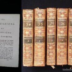 Libros antiguos: J. J. ROUSSEAU: MEMOIRES / 6 TOMOS / PARIS, 1793. Lote 55230496