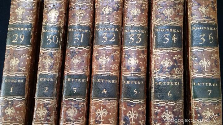 Libros antiguos: J. J. ROUSSEAU: LETTRES / 7 TOMOS / PARIS, 1793 - Foto 4 - 55230755