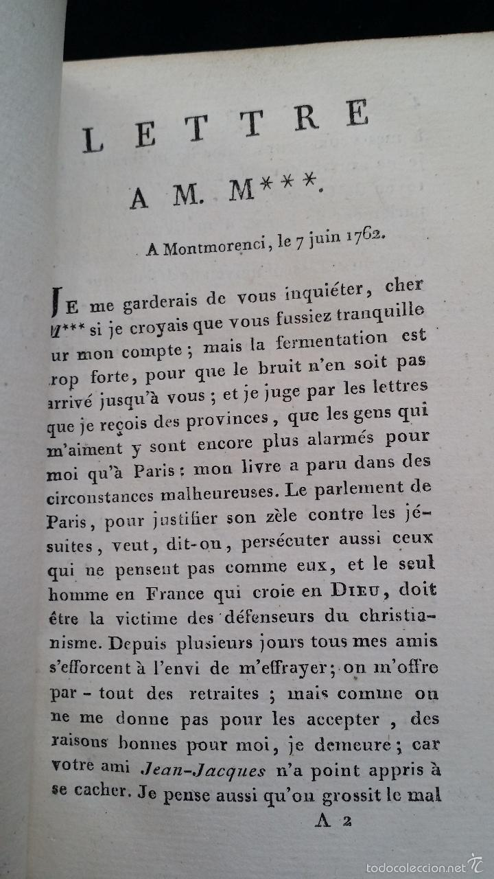 Libros antiguos: J. J. ROUSSEAU: LETTRES / 7 TOMOS / PARIS, 1793 - Foto 9 - 55230755