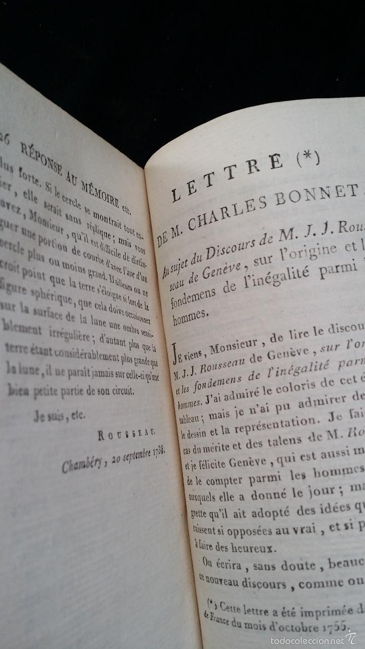 Libros antiguos: J. J. ROUSSEAU: LETTRES / 7 TOMOS / PARIS, 1793 - Foto 12 - 55230755